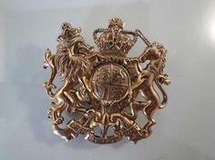 Accessocraft Heraldic UK Coat of Arms Brooch Dieu et mon droit British Monarch