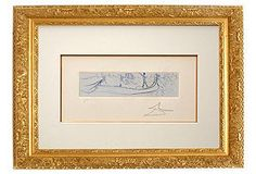 Salvador Dali, Venice (Blue)