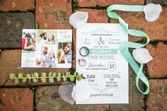 Old Medical College Wedding|Augusta, GA|Cameron+Sara | Greenville, SC Wedding Photographer Tiffany Blue Wedding Invitation