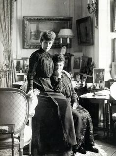 Queen Alexandra and Dowager Empress Maria Feodorovna of Russia.