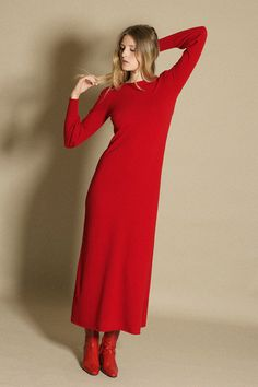 Ryan Roche - Red Bell Sleeve Dress | BONA DRAG
