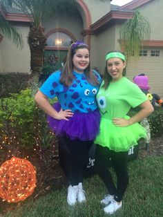 Sulley mikeis would be cute for a running group costume easy diy halloween costumes mike and sully solutioingenieria Choice Image