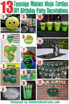 75+ DIY Teenage Mutant Ninja Turtles Birthday Party Ideas | About Family Crafts