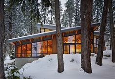 Kind of love this roof; how they go both ways...and shed snow load while extending the shape.