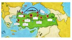 4.Sınıf Türkiye Haritası Üzerinde Milli Mücadele Dönemi