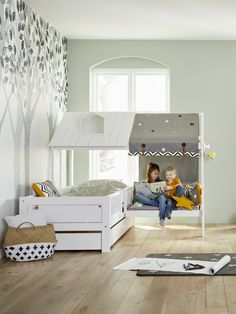 Kids Corner Beach House Bed With Bench