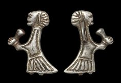 Rare Viking Valkyrie Cup-Bearer Amulet, 10th Century Excessively rare, one of only a few examples known.