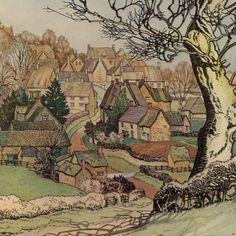 "Vintage Book Illustration from ""Village Homes of England"" - Horley, Oxfordshire - Dated 1912"