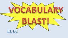 ELEC - Vocabulary Blast 1  Jobs
