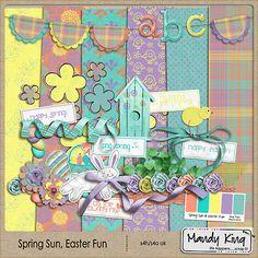 Spring Sun & Easter Fun mini kit freebie from Mandy King