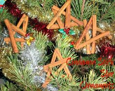 Cinnamon Stick Star Ornaments