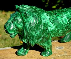 Huge Natural Green Malachite Lion King Carving Gemstone from Africa Congo | eBay
