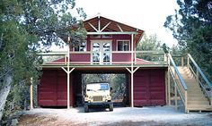18 Ideas conex house plans shipping container cabin for Barn made from Conex units.