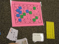 "Math with Someone: Double It! FREEBIE    ( students need a deck of cards Ace-10 and 10 game pieces each. You turn over a card and read the math talk card . EX: you turn over a 3, you say "" the double of 3 is 6."" Then you look for a 6 on the game board and cover it. The first person to get rid of all ten counters is the winner. )"