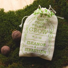 Personalized Wedding Favor Seed Bombs - Herbs or Wildflowers for Eco Friendly Woodland Boho Chic Outdoor Wedding. $30,00, via Etsy.