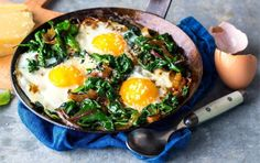 Freekeh, Kale and Egg White Breakfast Bowl Post Workout Nutrition, Post Workout Snacks, Fitness Nutrition, Fitness Pal, Workout Meals, Workout Protein, Sports Nutrition, Nutritious Meals, Healthy Fats