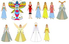 All dress, including one that her mother made that she didn´t dressed( yellow) Thumbelina in all dress Non Disney Princesses, Disney Princess Art, Disney Art, Disney Animated Movies, Disney Movies, Disney Costumes, Disney Outfits, Studio Ghibli Characters, Jessie Toy Story