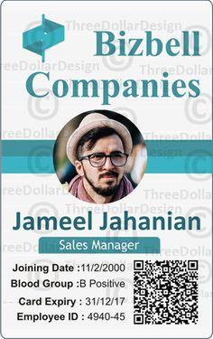 Employee card format in word | 100 Employee Card Template ...