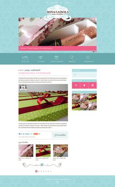 Logotipo e layout personalizado para o blog Dona Caixola em WordPress