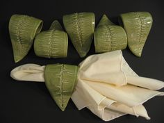 Fern Napkin Rings by ArtonDepot on Etsy https://www.etsy.com/listing/32268646/fern-napkin-rings