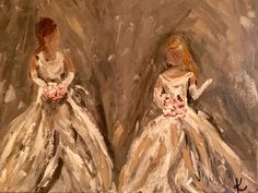 """Story Behind The Painting: Above are both of the debutant paintings that found their way to the canvas dance!  I could not post the second """"Cinderella"""" rendition until the gifts had be…"""