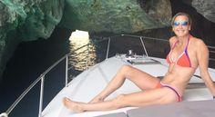 Lara Spencer in a bikini - Swimming in the grottos of Capri Lara Spencer Bikini, Laura Spencer, Nice Bikinis, Bikini Pictures, Second Child, Bikini Bodies, Beautiful Women, Swimming, Celebrities