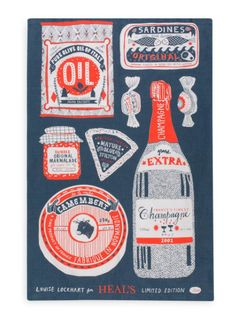 Heal's Tea Towel - Louise Lockhart | Illustration | Design | The Printed Peanut