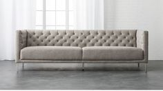 Contemporary Best Sofa 2017 The Couch Under 1500 Savile Grey 1 199 Uk Sleeper Leather Rated Made Reclining Corner Affordable Contemporary Sofa, Modern Sofa, Living Room Shop, Home Living Room, Grey Tufted Sofa, Apartment Sofa, Apartment Ideas, Cool Couches, Sofa Colors