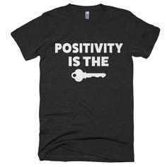 """Positivity is the Key"" Tee (Mens) - WordGoods"