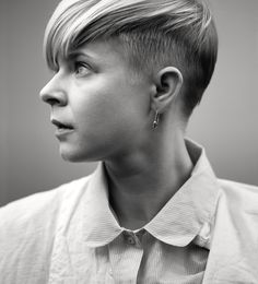 Robyn; it sounds really dumb, but I felt so powerful and sexy when I dyed my hair honey blonde and cut it this way.I miss it.