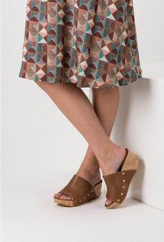 Sandale maro din piele naturala Roxette