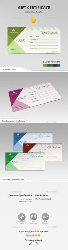 #Gift Certificate - #Certificates Stationery Download here: https://graphicriver.net/item/gift-certificate/13967122?ref=alena994