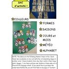 MON SAC DACTIVITÉ (My French Activity Baggie) is an idea that I created for my primary students. Its a large plastic baggie filled with mini flas...