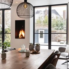 Living Room White, Home Living Room, Interior Architecture, Interior And Exterior, Interior Design, House Extension Design, Transitional Decor, Fireplace Design, Beautiful Kitchens