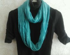 Handmade teal ruffle infinity scarf #Handmade #Scarf Baby Items, Infinity, Teal, Fashion Outfits, Handmade, Stuff To Buy, Hand Made, Infinite, Fashion Suits