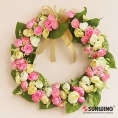 door wreath,or wedding car decor.more style:http://www.aliexpress.com/store/group/Small-Wreath/1225198_255654277.html