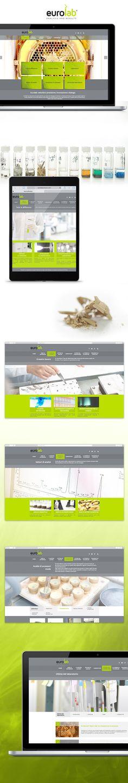 Sito web Eurolab creato da effADV - Eurolab #website, created by effADV - #webdesign #graphicdesign #weblayout #web #graphic