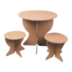 Cardboard Table and Chairs