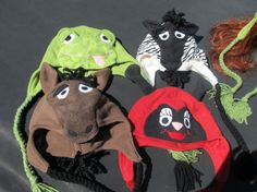 CUSTOM Fleece Character Hats with Ear Flaps  Frog by clriegs, $30.00