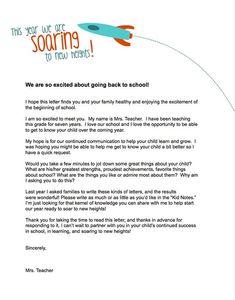teacher templates letters parents   Currix - Back To School Teacher Introduction Letter: