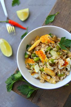 Brown Rice Pulao with Fish and Soy Bean