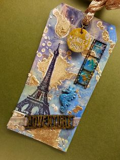 Tim Holtz 12 Tags of 2015 entry for March! This was a lot of fun and I discovered that my texture paste dries too quickly...