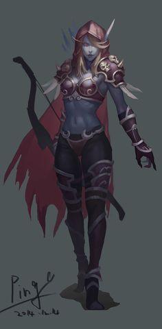 Sylvanas Windrunner by World Of Warcraft 3, World Of Warcraft Characters, Warcraft Art, Fantasy Characters, Fantasy Women, Dark Fantasy Art, Fantasy Girl, Fantasy Artwork, Draenei Shaman