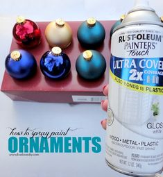 How to spray paint old Christmas ornaments any color you want!, DIY and Crafts, How to spray paint old Christmas ornaments any color you want! Painted Christmas Ornaments, Old Christmas, Christmas Balls, All Things Christmas, Christmas Holidays, Christmas Decorations, Christmas Ideas, Spray Paint Tips, Spray Painting