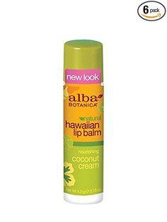 Alba Botanica Nourishing Coconut Cream Hawaiian Lip Balm, 0.15 Ounce Tubes (Pack of 6) Review