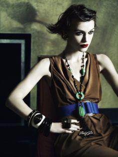 Keira Knightley by Mario Testino in 'Renaissance Woman', British Vogue