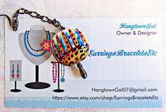 Colorful bead earrings. Gunmetal chain. by EarringsBraceletsEtc