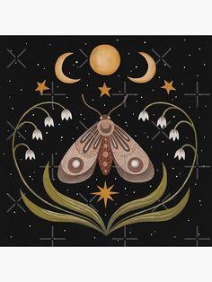 Diy Inspiration, Painting Inspiration, Art Inspo, Gravure Illustration, Illustration Art, Posca Art, Moon Art, Canvas Prints, Art Prints