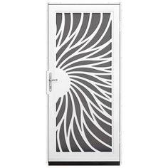 Beautiful solstice design screen door!