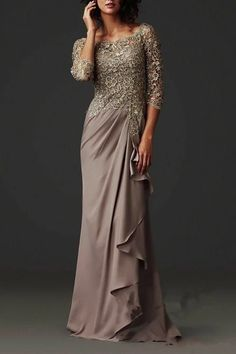 Zuhair Murad Evening Dresses Elegant Sheer Lace Mother of the Bride Groom Dresses Formal Arabic Party Gowns with Long Sleeves Floor Length Long Mothers Dress, Mother Of The Bride Gown, Mother Of Groom Dresses, Bride Groom Dress, Mothers Dresses, Brides Mom Dress, Mother Bride, Evening Dress 2015, Prom Dresses Long With Sleeves